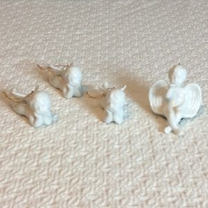 4 Vintage Porcelain Angels